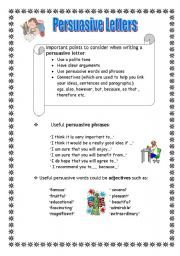 English Teaching Worksheets Persuasive Writing  Persuasive