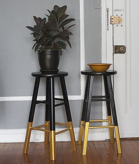 Dipped Chair Legs With Black Gold Color For Charming And