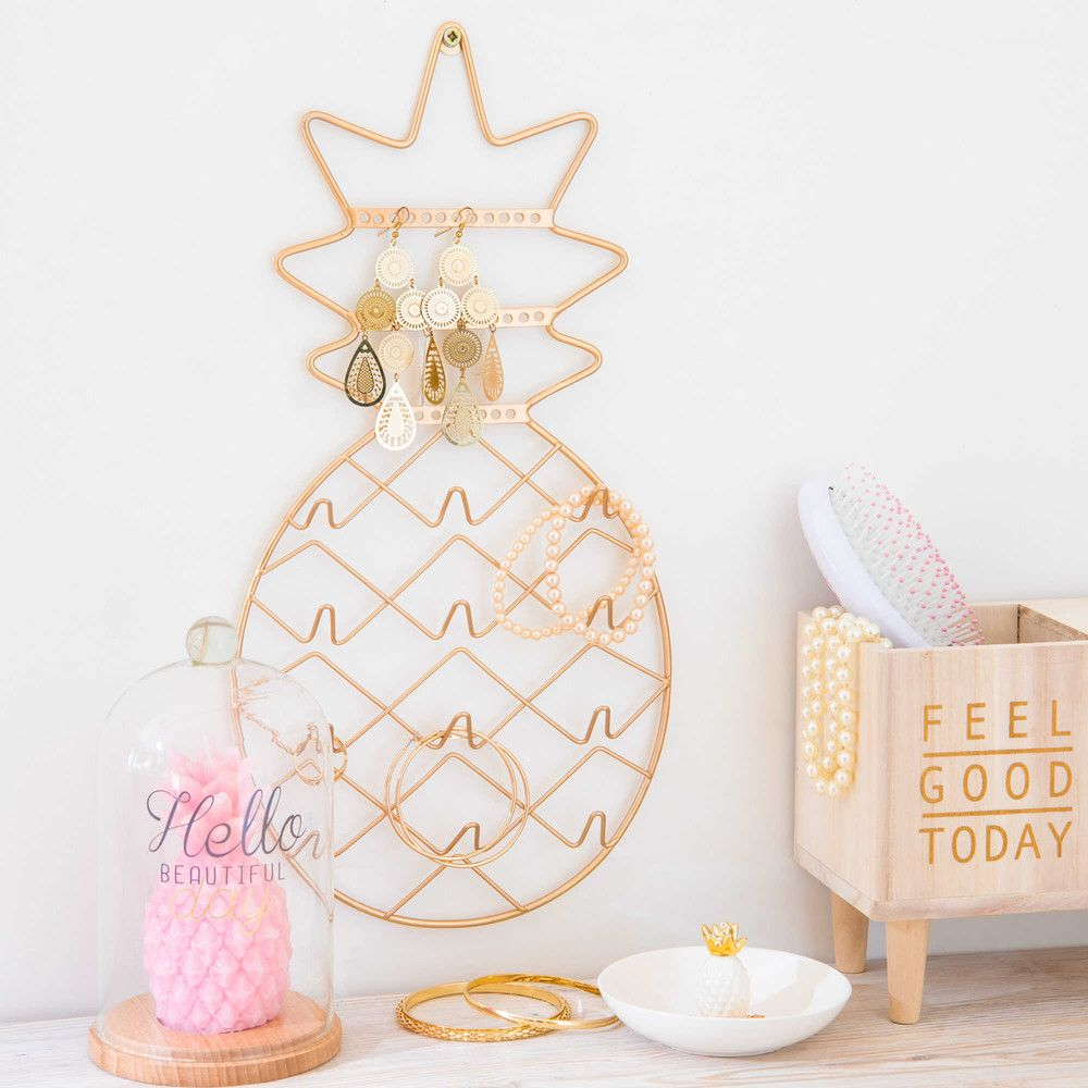 bougie rose sous cloche en verre pineapple party. Black Bedroom Furniture Sets. Home Design Ideas