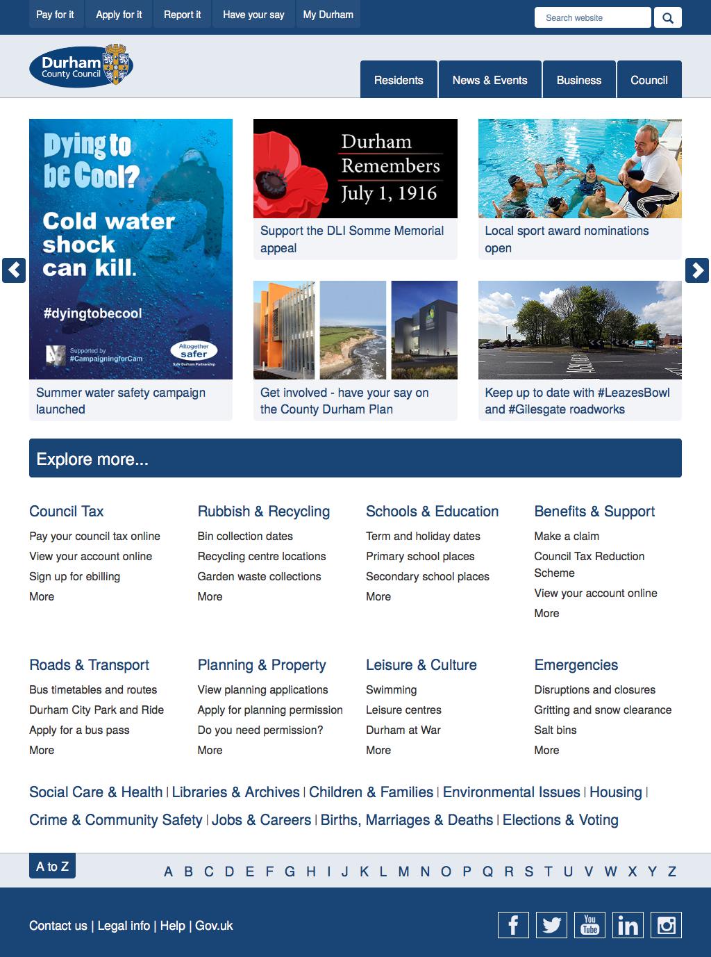 Durham County Council Gov Web Sites Pinterest