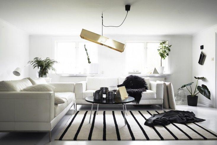 Monochrome Home Hilary Robertson White Living Room | Remodelista