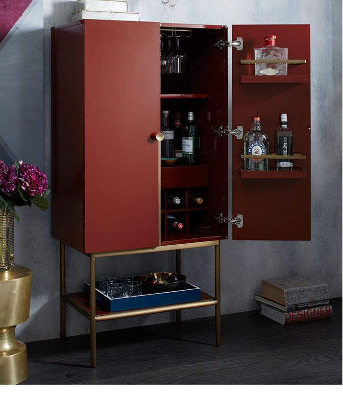 West Elm Bar cabinet. This has to be an ikea hack or ...