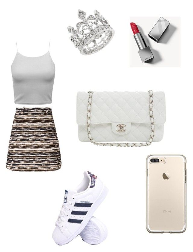"""""""Untitled #869"""" by tal-haliva on Polyvore featuring Carven, Karl Lagerfeld, adidas and Burberry"""