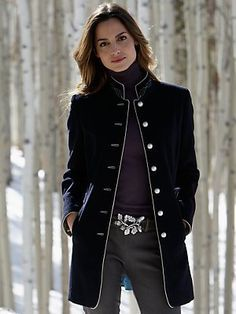 Military Ladies Coat | Down Coat