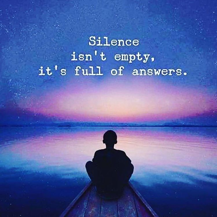 Spiritual Love Quotes: Silence Isn't Empty, It's Full Of Answers. #quote #quotes