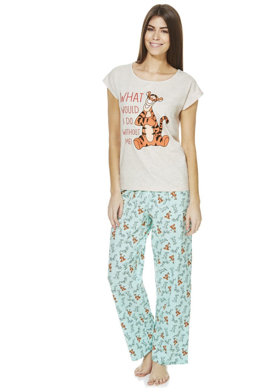 72b6858d7429c Clothing at Tesco   Disney Tigger Pyjamas > nightwear > Nightwear &  Slippers > Women