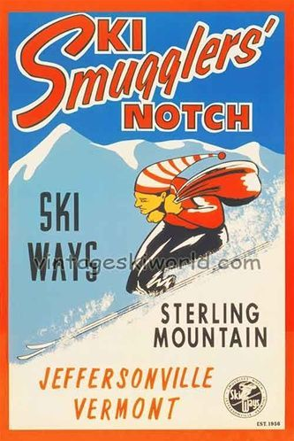 Smugglers Notch Vermont Ski Poster