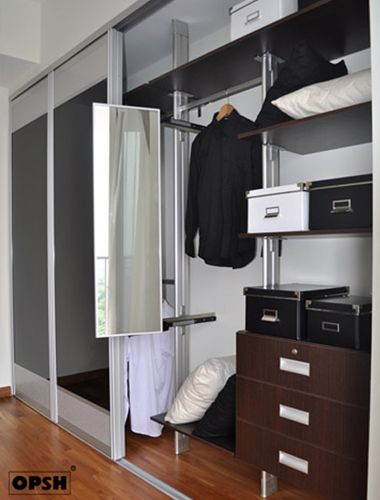 Wardrobe With Pull Out Mirror From OPSH Walk In Wardrobe Design, Wardrobe  Closet, Wardrobe
