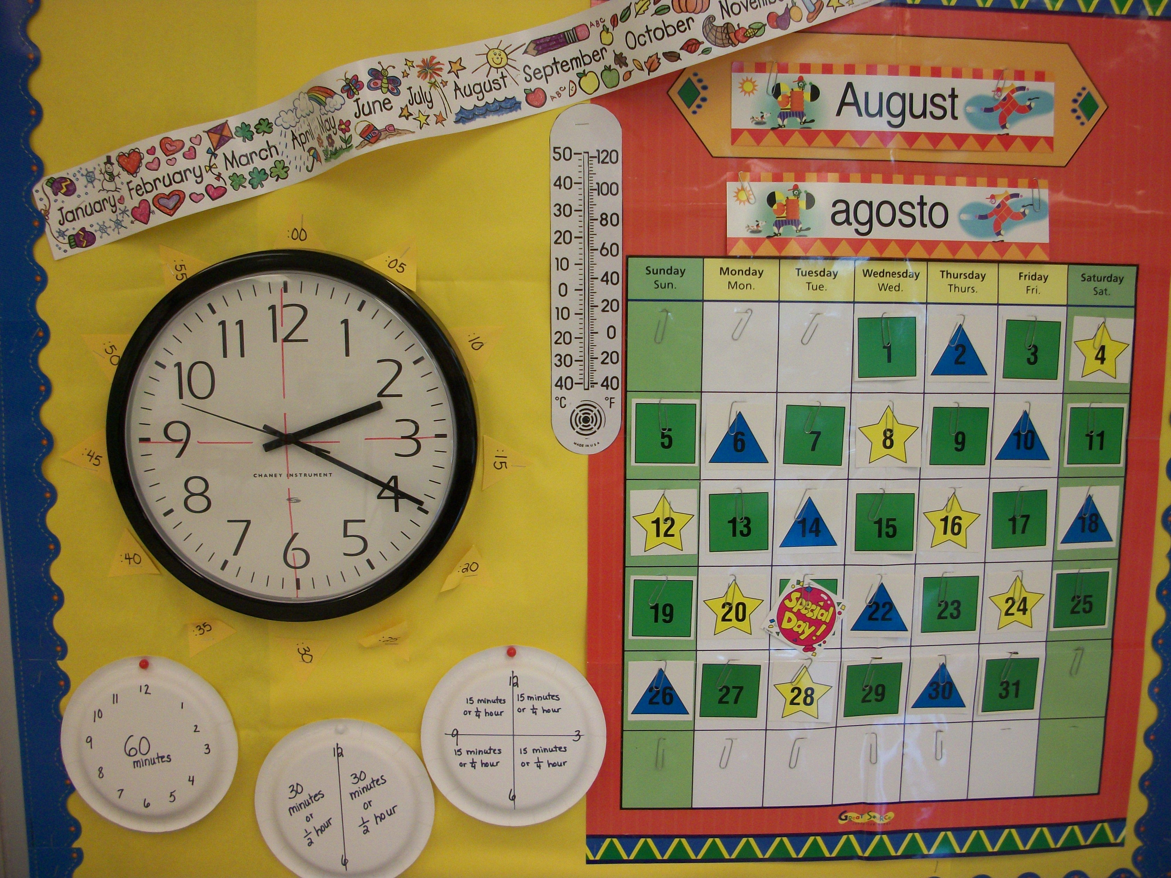 Daily Calendar Time And Temperature