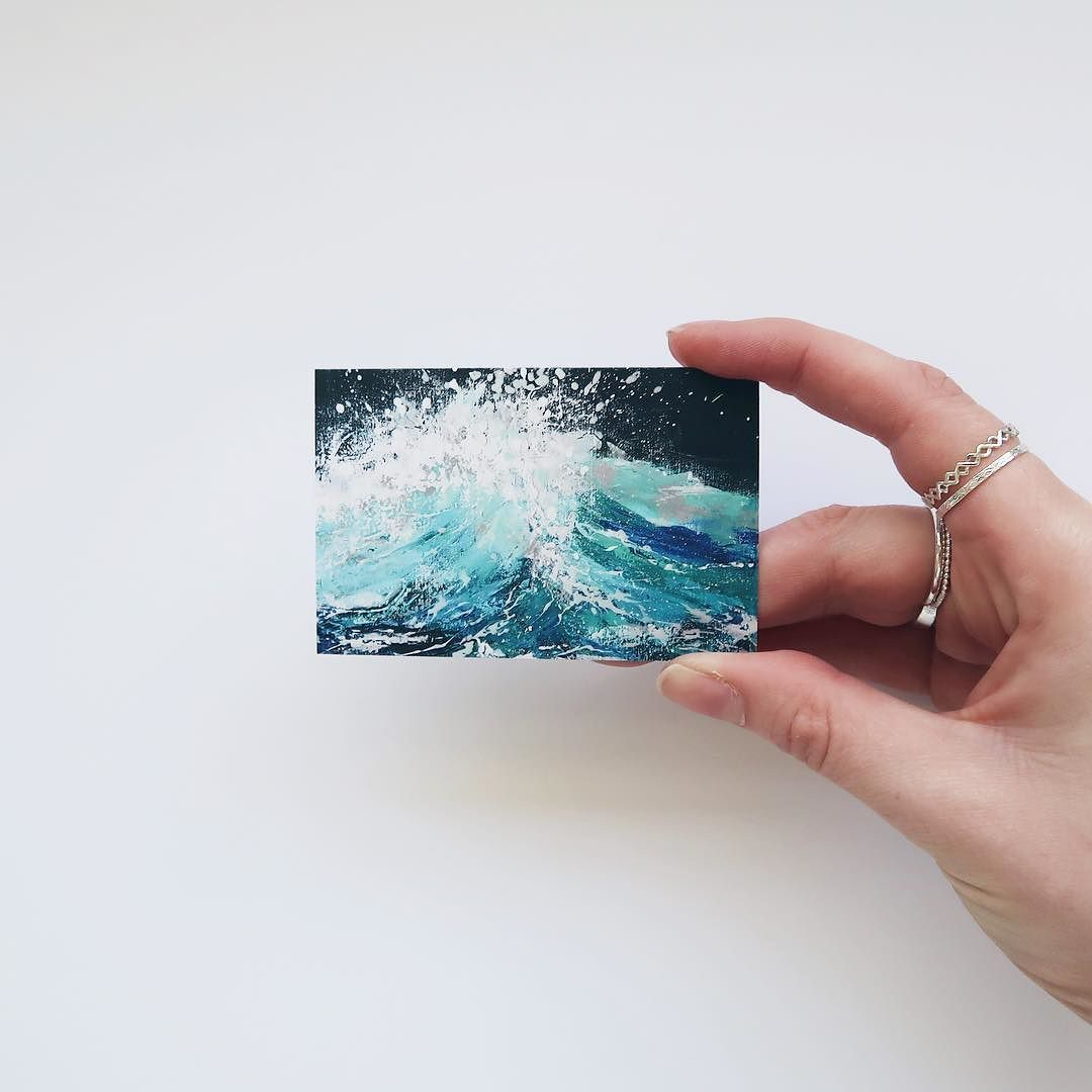 Business cards are like tiny cute paintings | Katie Jobling Art ...