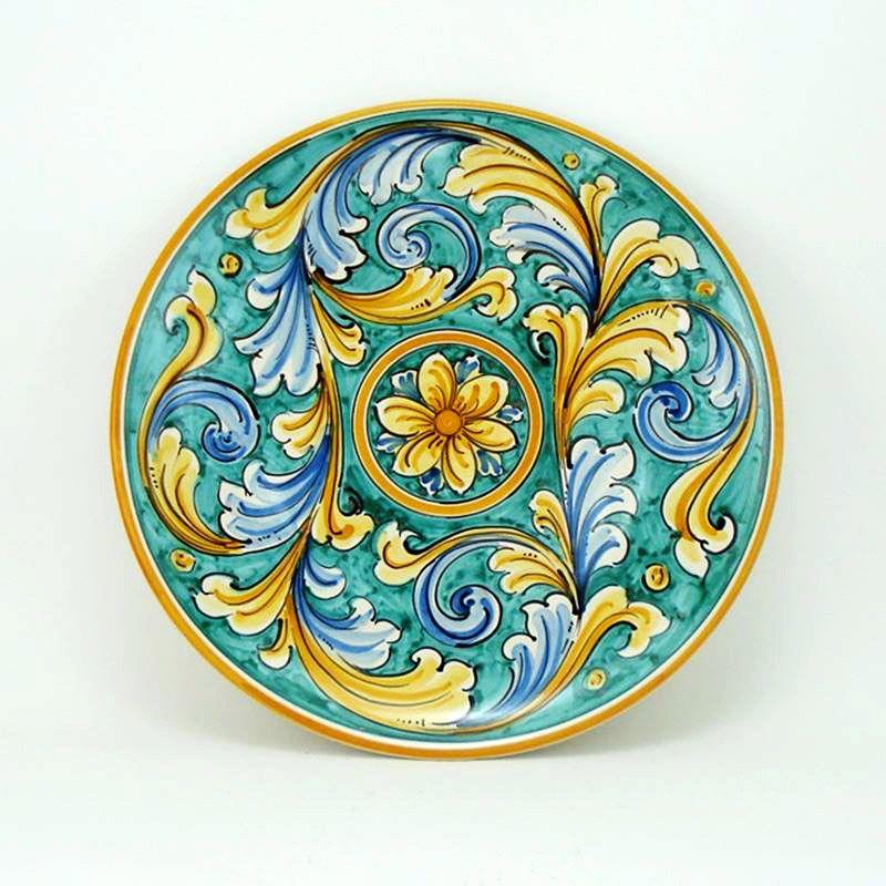 Oggetti Ceramica Di Caltagirone.Piatto Ceramica Blu Da 43 Ceramiche Di Caltagirone Sito Ufficiale