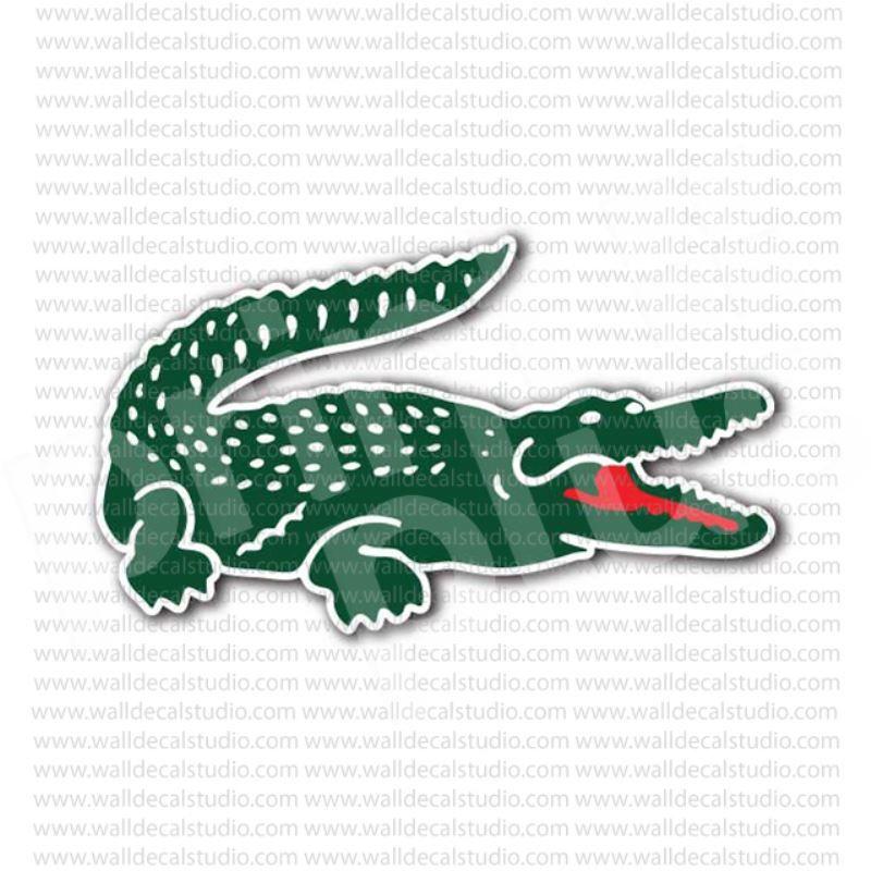 Letreiro 3D com plantas forma o crocodilo da logo Lacoste   ADIDAS ... cc6bb5d511