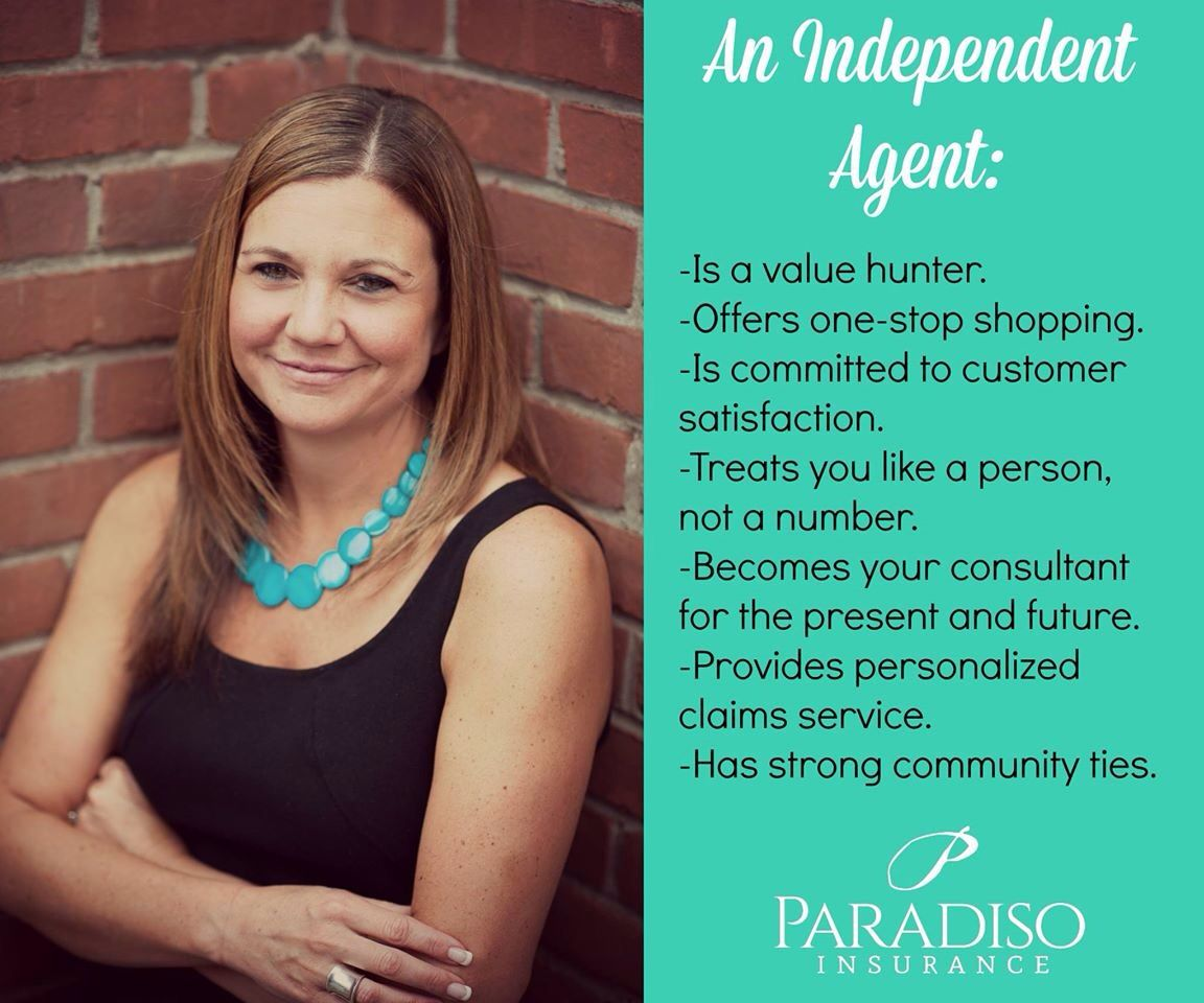 Shop with your local independent insurance agent