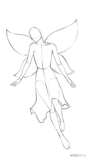 how to draw fairies--the wings should be bigger but it is a nice go to guide