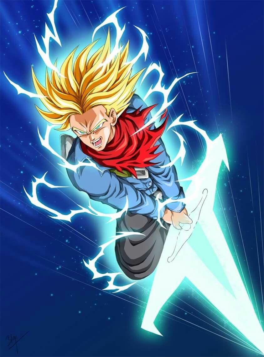 Super saiyan rage future trunks using the light sword - Trunks super sayen ...