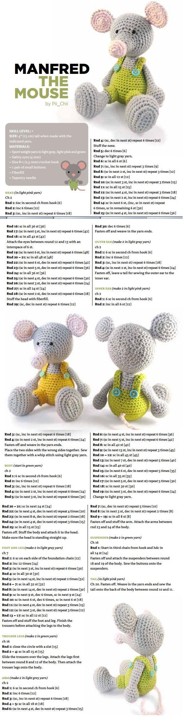 Haken Knuffels Crochet Amigurumi Op Pinterest