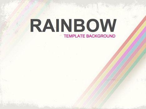 Rainbow PowerPoint Template Rainbows Powerpoint themes, Rainbow