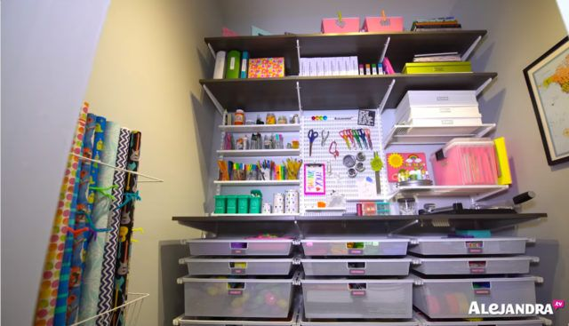 Home Office Organization Ideas: Organized Craft Supplies From