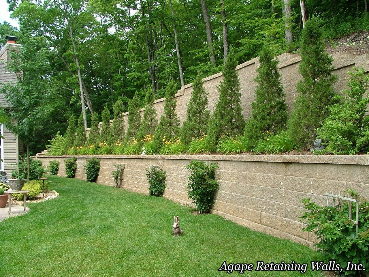 Exactly what we need for the steep hill. Landscaping and ... on Steep Hill Backyard Ideas id=41520