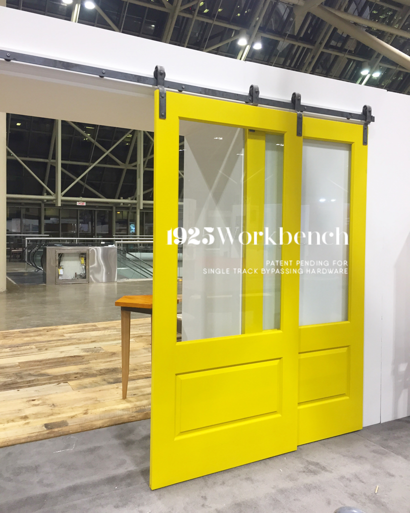 We made yellow doors to go on our single track bypassing hardware for IIDEX show. & We made yellow doors to go on our single track bypassing hardware ...