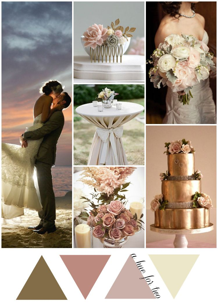 Gold And Dusty Rose Beach Wedding Colours A Hue For Two Wedding
