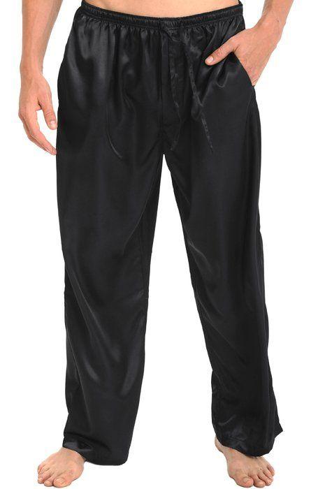 f953f2965b Del Rossa Men s Classic Satin Pajama Pants - Sleep Bottoms