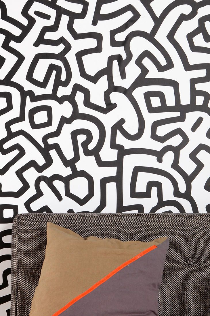 Keith Haring Pattern Wall Decal Urban Outfitters... Cool For Office, Small  Amounts Part 91
