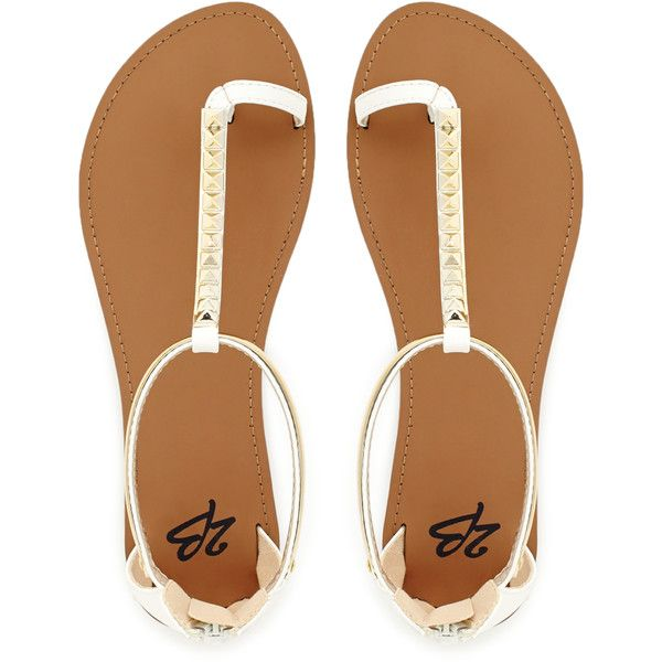 5fe55434297 2b bebe Bellini Flat Sandals ($25) ❤ liked on Polyvore featuring ...
