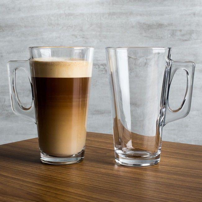 Pasabahce Mug Tall Of Coffee Set Collection Glass 2 Barista Lq53ARc4j