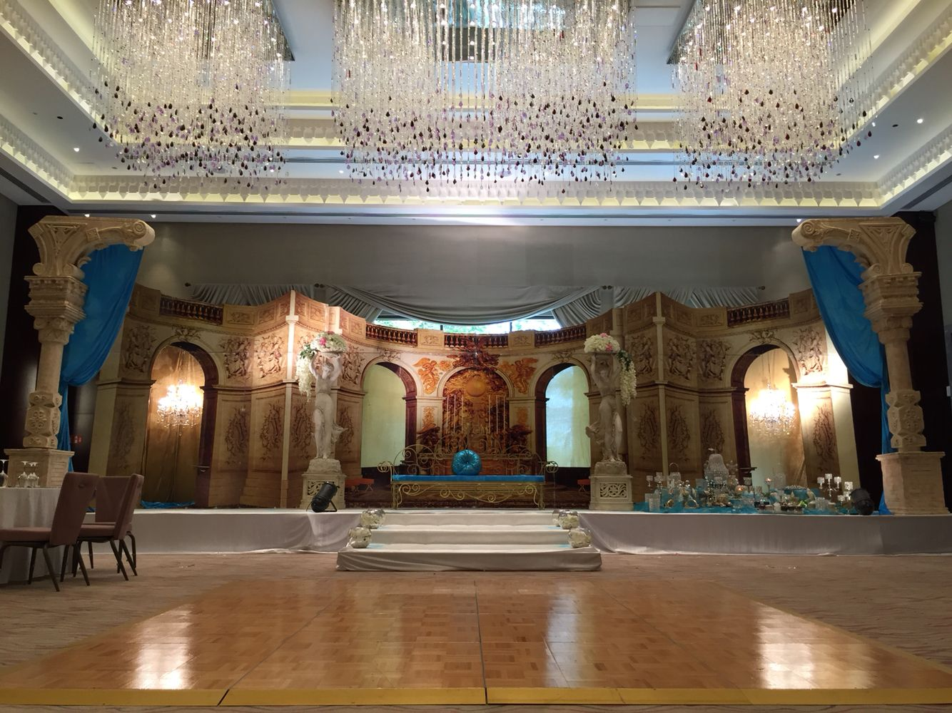 New style wedding stage decoration  Romanian Style  Wedding Stage Decorations  Pinterest  Wedding
