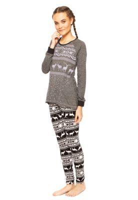 df46e7149 Pijama Cor Com Amor Arabesco Cinza