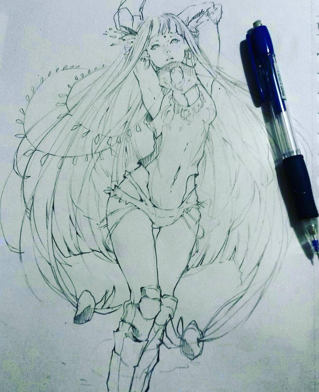 "1,673 Likes, 29 Comments - Martina Mura (@_maya__osaki) on Instagram: ""Sketch of Yin, my oc"""