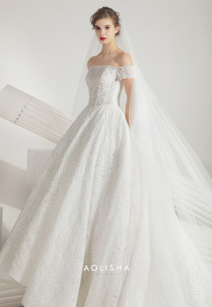 ef382f467498 Off-Shoulder Beading Bodice Ball Gown