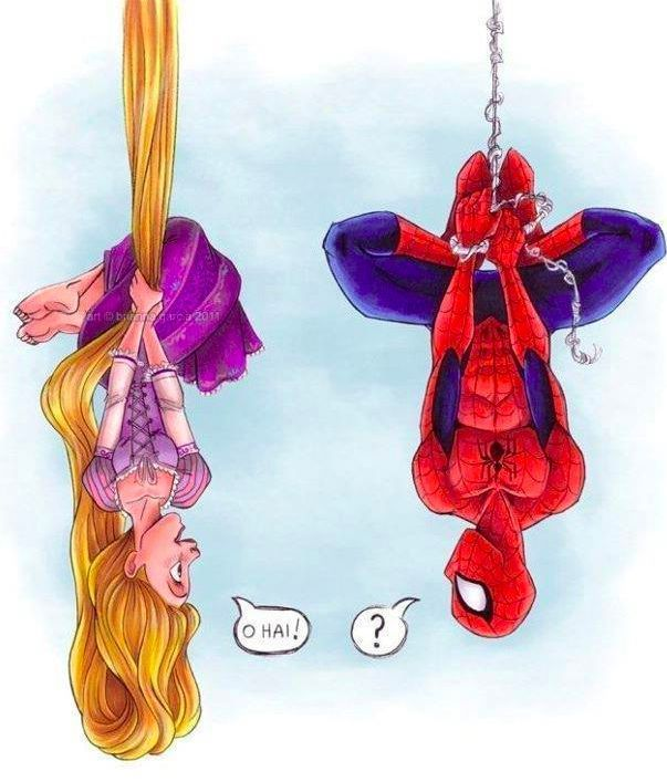 Rapunzel and Spiderman