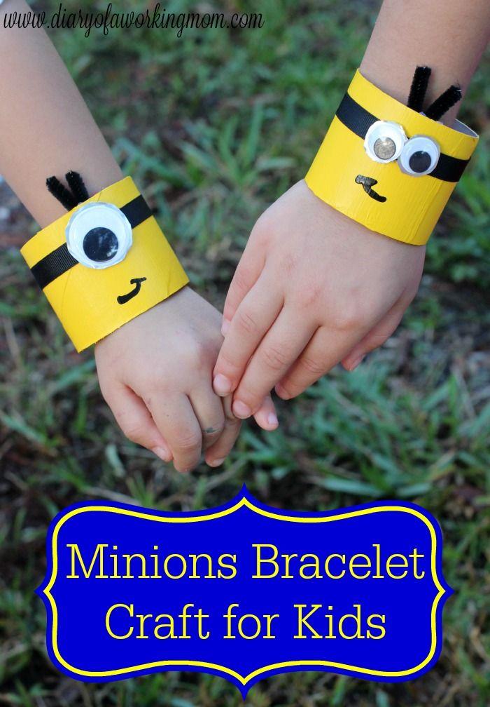 Minion Crafts Part - 20: Easy Minions Bracelet Craft For Kids #MinionsMovieNight #ad