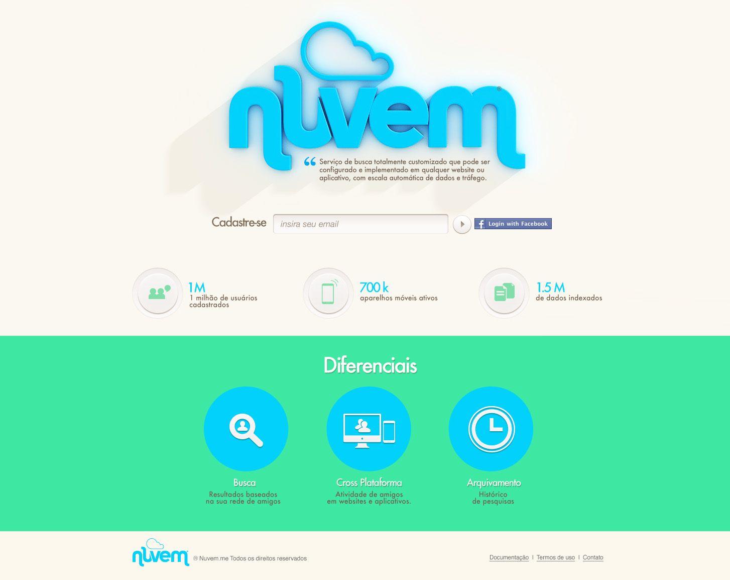 Nuvem. #web #design