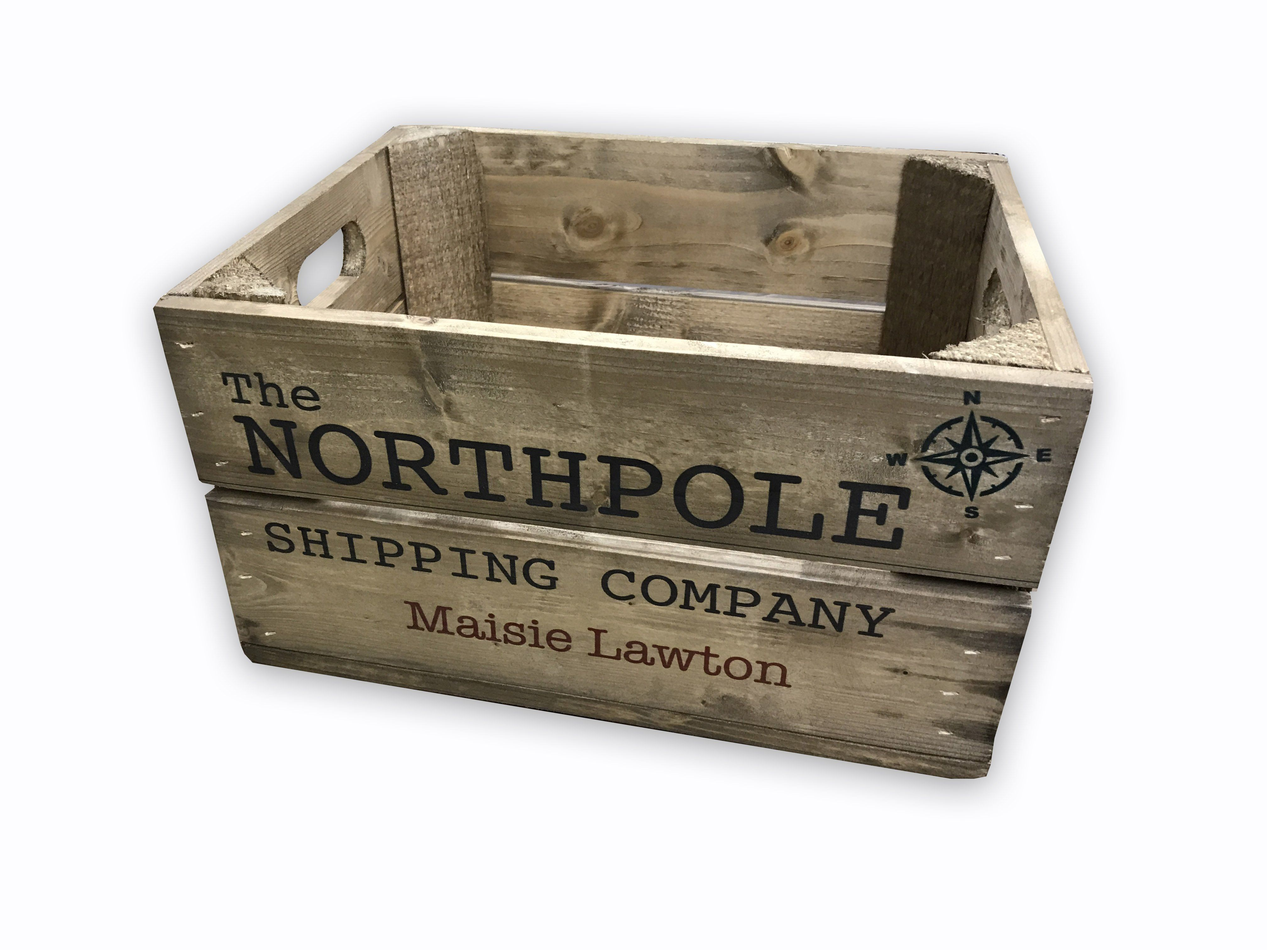 Christmas Crate Box.Christmas Eve Box Christmas Toybox Personalised Christmas