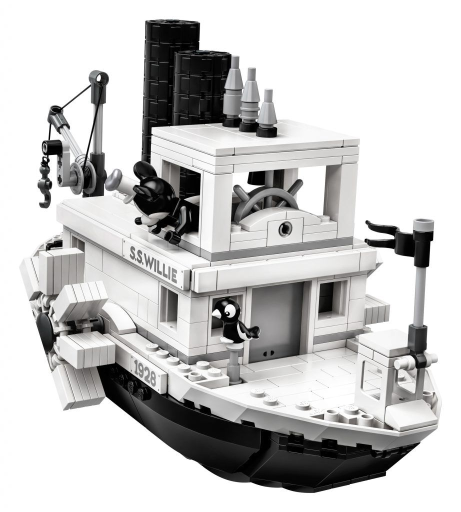 Details Of Lego Ideas Disney 21317 Steamboat Willie Set Including Retro Mickey And Minnie Mouse News Lego Boat Lego Steamboat Willie