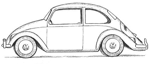 Vintage Volkswagen Beetle Coloring Pages