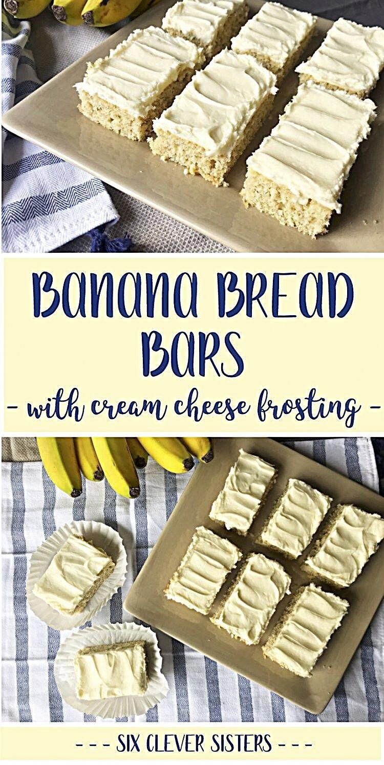 Banana Bread Bars Banana Bread Bar sheet cake recipe, with Cream Cheese Frosting. - This recipe for banana bread bars with cream cheese frosting are made in a sheetcake pan making it easy to serve a crowd! #foracrowd #recipe #bananabread #easyrecipe #sixcleversisters #foodspo #Foods4Thought #foodmaniacindia #foodandbeverage #foodlife #foodforlife #foodgood #foodaholic #fooddelivery #instadaily #foodfood #foodism #foodheaven #instagood #foodinspiration #bananacake