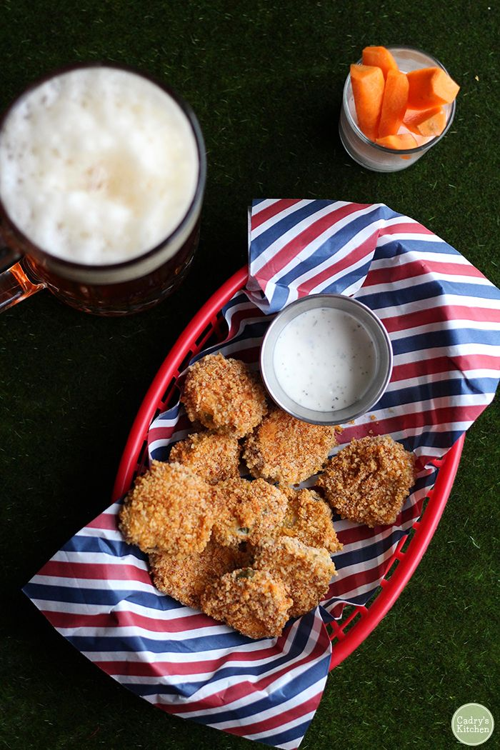 Crispy fried pickles in the air fryer or skillet Recipe