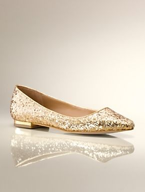 I adore these  Dorothy shoes from Talbots that come in gold or silver for   99 Ruby Almond-Toe Glitter Flat 60fdf93b2