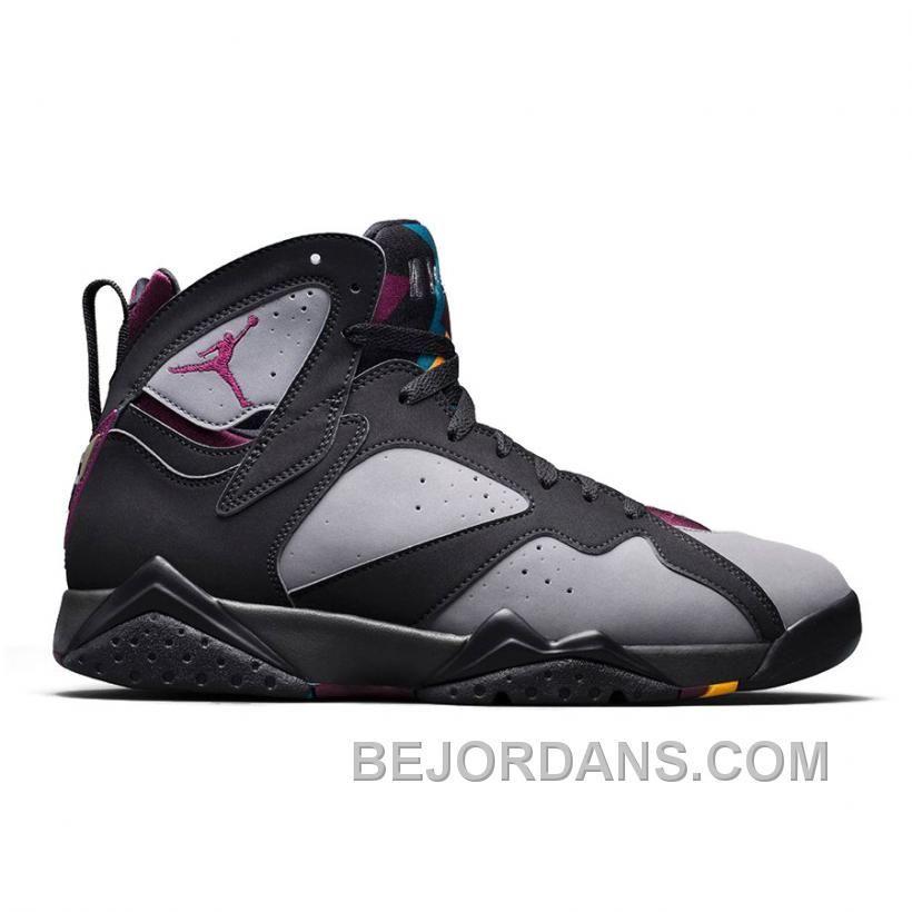 Jordan Men's Midnight Fog Light Graphite Retro 7 Sneakers black Bordeaux Dirt cheap