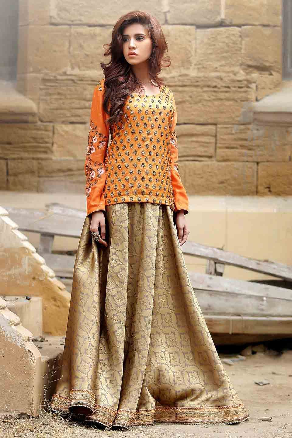 Pakistani Mehndi Dresses With Price For Brides In 2019
