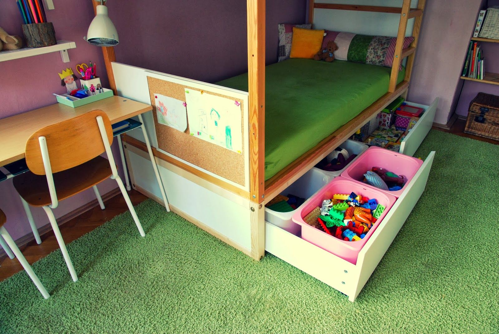 Ikea Kura Bed Hack Build A Sturdy Platform With Drawers