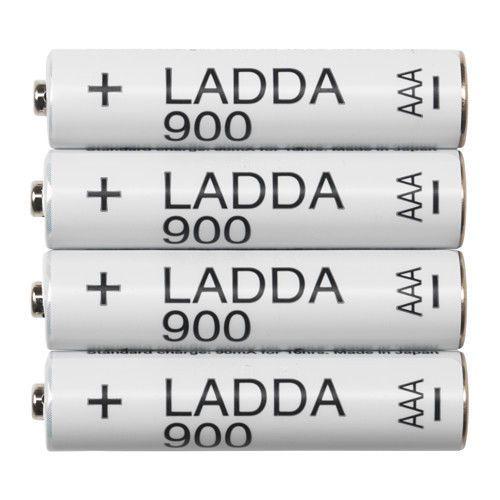 Ikea Ladda Rechargeable Nimh Batteries Size Aaa 900 Mah 903 038 80 Rechargeable Batteries Battery Sizes Portable Battery Bank