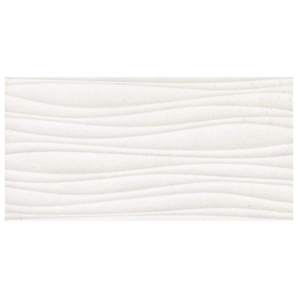 Wall Tile 600 X 300mm Ceramic White Glossy