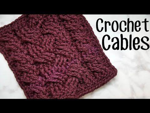How to Crochet Cables - YouTube | Crochet | Pinterest | Pluma, Perú ...