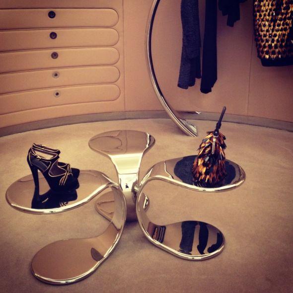 silver table - futuristic furniture #decor