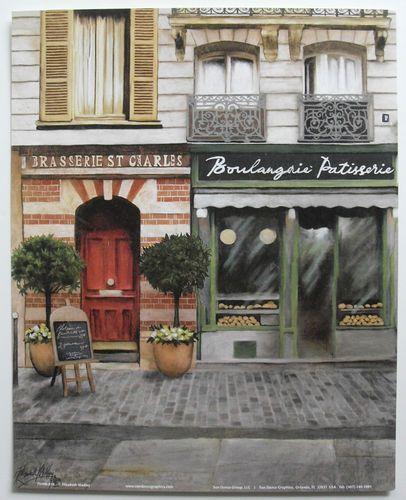 $4.99  French Shops ART Print Unknown Title BY Elizabeth Medley   eBay #art #door #walldecor